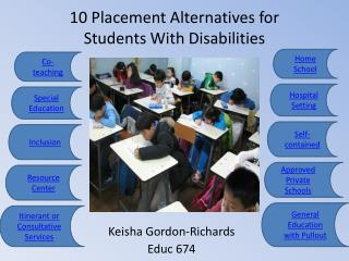 10 Placement Alternatives for Students With Disabilities