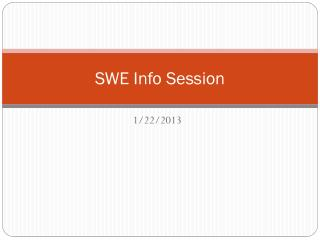 SWE Info Session