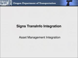 Asset Management Integration