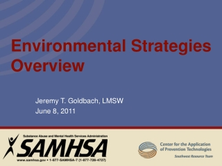 Environmental Strategies Overview