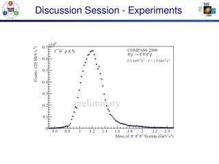 Discussion Session - Experiments