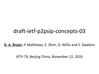 draft-ietf-p2psip-concepts-03