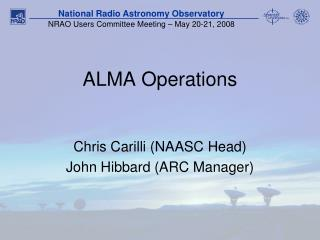 ALMA Operations