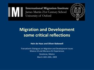 Migration and Development some critical reflections