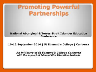 Promoting Powerful Partnerships