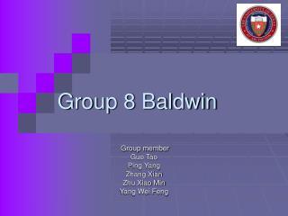 Group 8 Baldwin