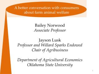 A better conversation with consumers about farm animal welfare