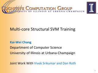 Multi-core Structural SVM Training