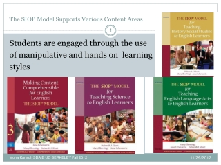 The SIOP Model Supports Various Content Areas