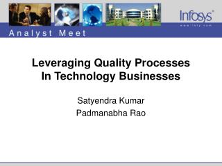 Leveraging Quality Processes In Technology Businesses