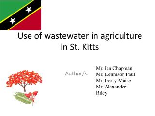 Use  of wastewater in agriculture in  St. Kitts