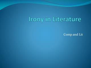 Irony in Literature