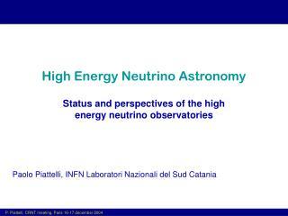 High Energy Neutrino Astronomy