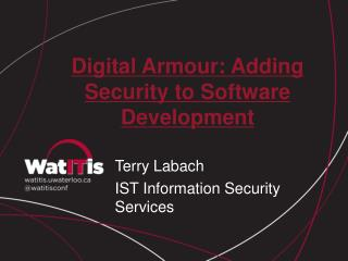 Digital Armour: Adding Security to Software Development