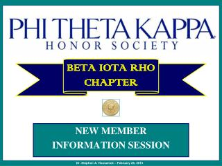 BETA IOTA RHO  CHAPTER
