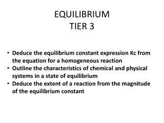 EQUILIBRIUM TIER 3