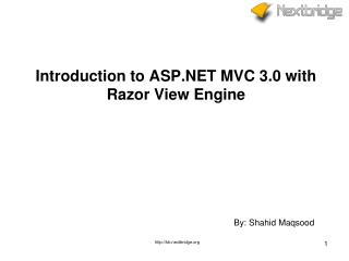 Introduction to ASP.NET MVC 3.0 with Razor View Engine