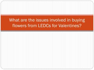 What are the issues involved in buying flowers from LEDCs for Valentines?