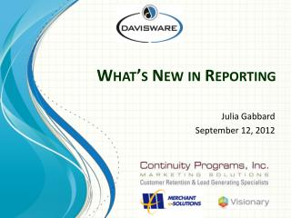What's New in Reporting