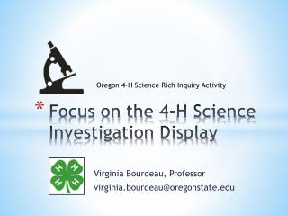 Focus on the  4-H Science Investigation Display
