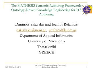 The MATHESIS Semantic Authoring Framework: Ontology-Driven Knowledge Engineering for ITS Authoring