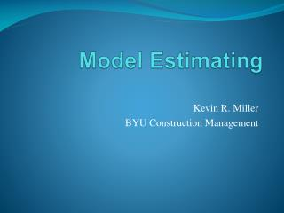Model Estimating