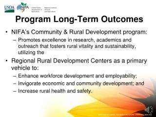 Program Long-Term Outcomes