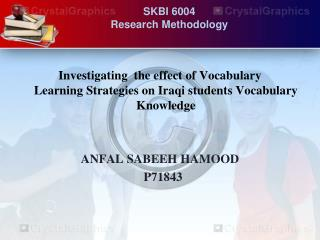 SKBI 6004 Research Methodology