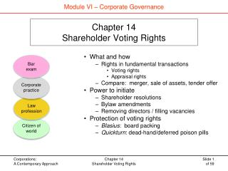 Chapter 14 Shareholder Voting Rights