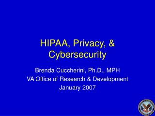 HIPAA, Privacy, & Cybersecurity