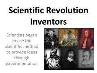 Scientific Revolution Inventors