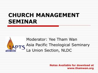 CHURCH MANAGEMENT SEMINAR