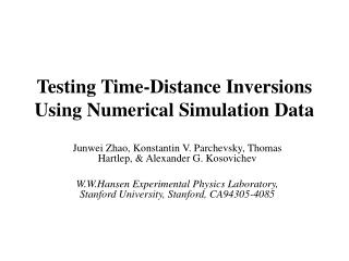 Testing Time-Distance Inversions Using Numerical Simulation Data