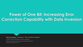 Power of One Bit: Increasing Error  Correction Capability  with Data Inversion