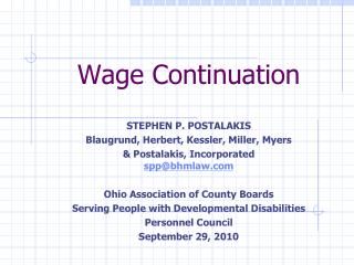 Wage Continuation