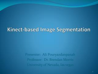 Kinect-based Image Segmentation