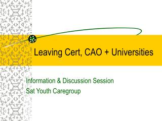 Leaving Cert, CAO + Universities