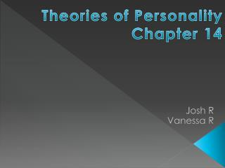 Theories of Personality Chapter 14