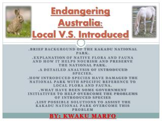 Endangering Australia: Local V.S. Introduced