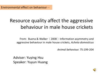 Adviser:  Yuying  Hsu Speaker:  Yuyun  Huang