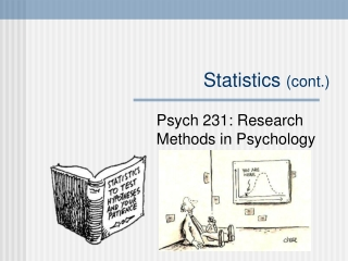 Statistics (cont.)