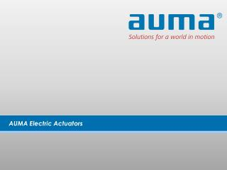 AUMA Electric Actuators