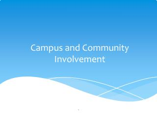 Campus and Community Involvement