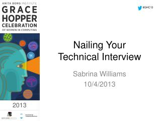 Nailing Your Technical Interview