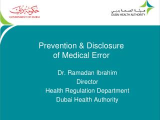 Prevention & Disclosure of Medical Error