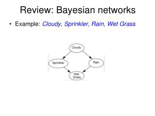 Review: Bayesian networks