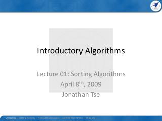 Introductory Algorithms