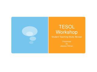 TESOL Workshop