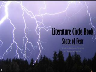 Literature Circle Book State of Fear
