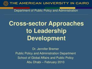 Cross-sector Approaches to Leadership Development
